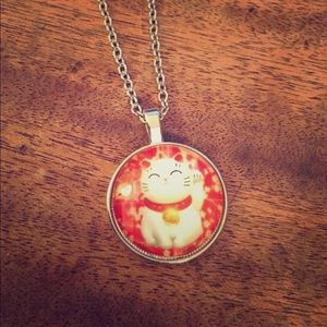 Jewelry - Good Luck Cat Necklace New 18""